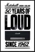 Tričko Marshall London-England 50 Years Of Loud Since 1962
